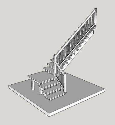 L-shaped-stairs-with-platform
