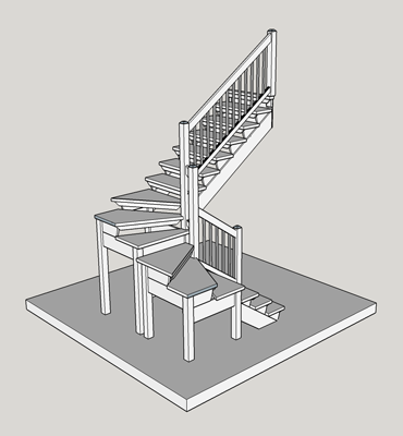 U-shaped-stairs-without-platform
